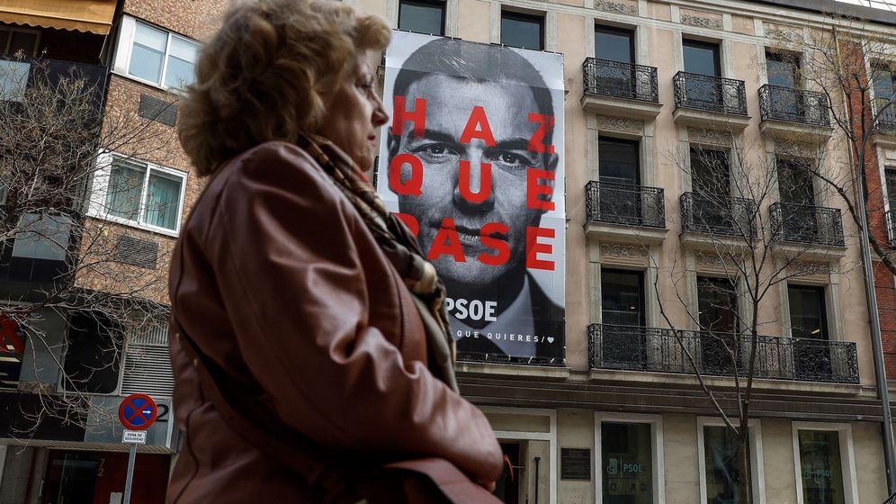 Foto: 'Haz que pase' será el lema de la campaña electoral de Pedro Sánchez para el 28 de abril. (EFE)