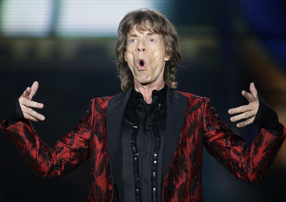 Foto: Mick Jagger durante el concierto de The Rolling Stones en Madrid