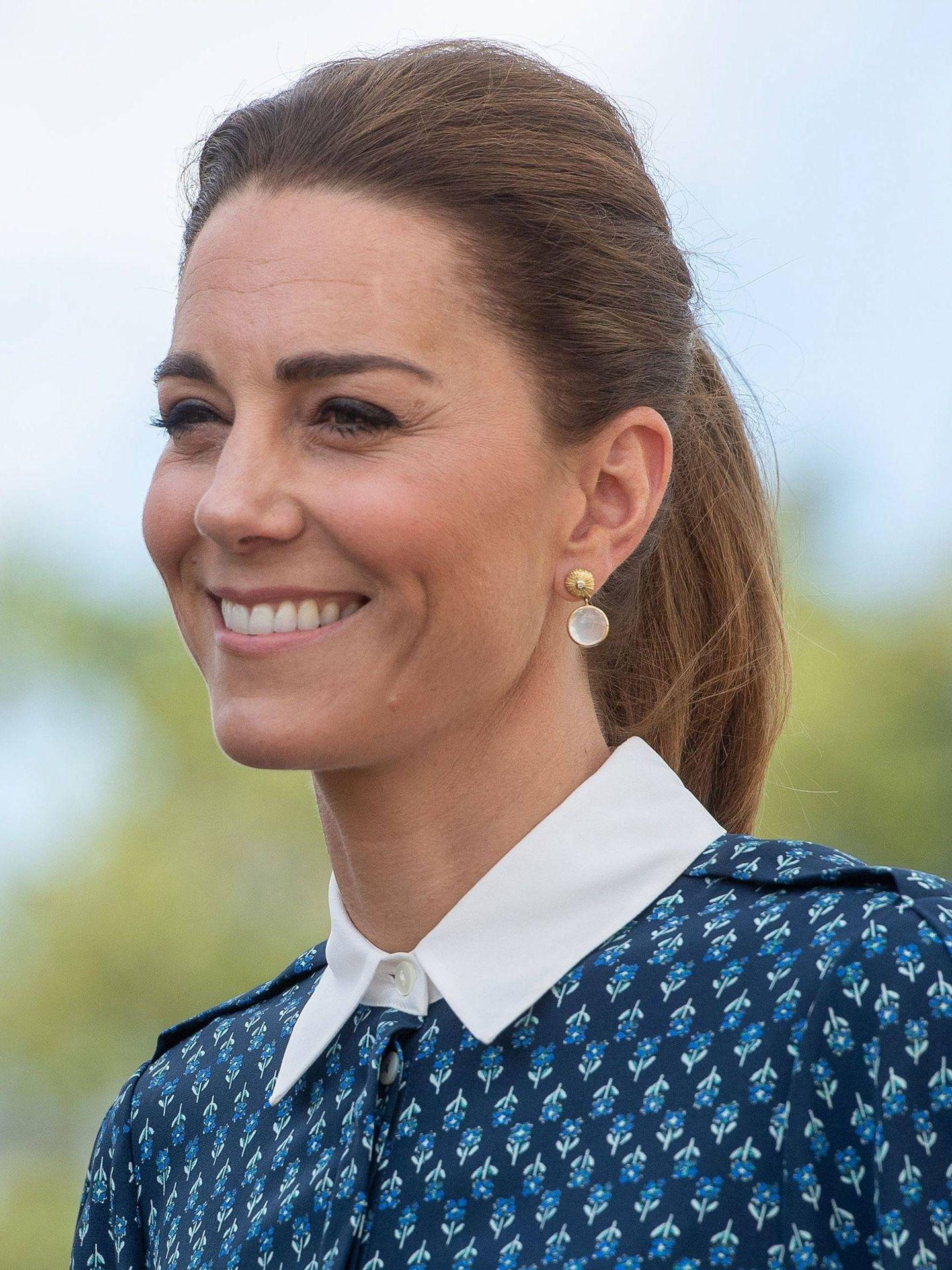Kate Middleton, en el verano de 2020 luciendo su base de maquillaje más bronceada. (Cordon Press)