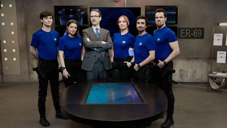 Parte del elenco de 'Cuerpo de élite' en Antena 3. (Roberto Garver)