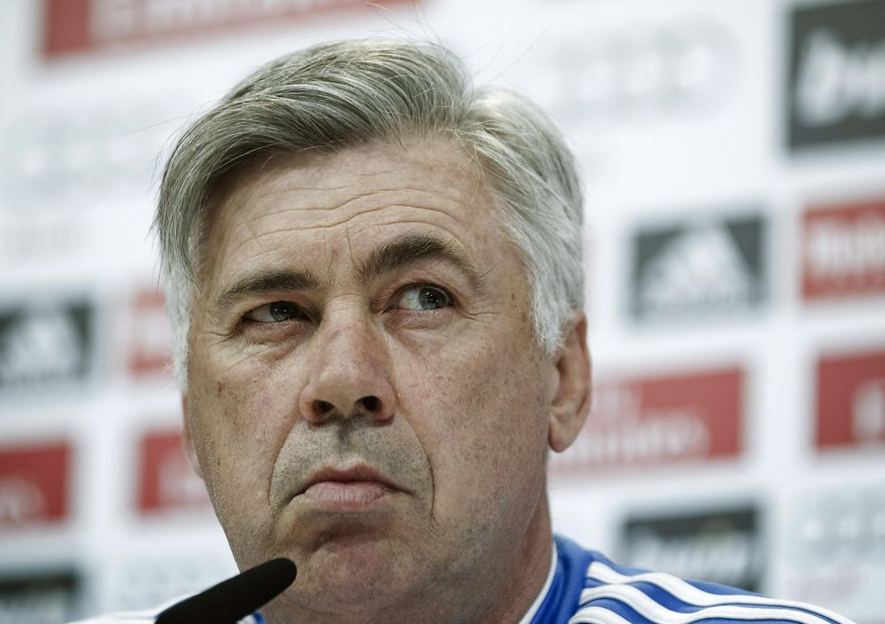 Foto: El entrenador del Real Madrid, Carlo Ancelotti, en rueda de prensa.