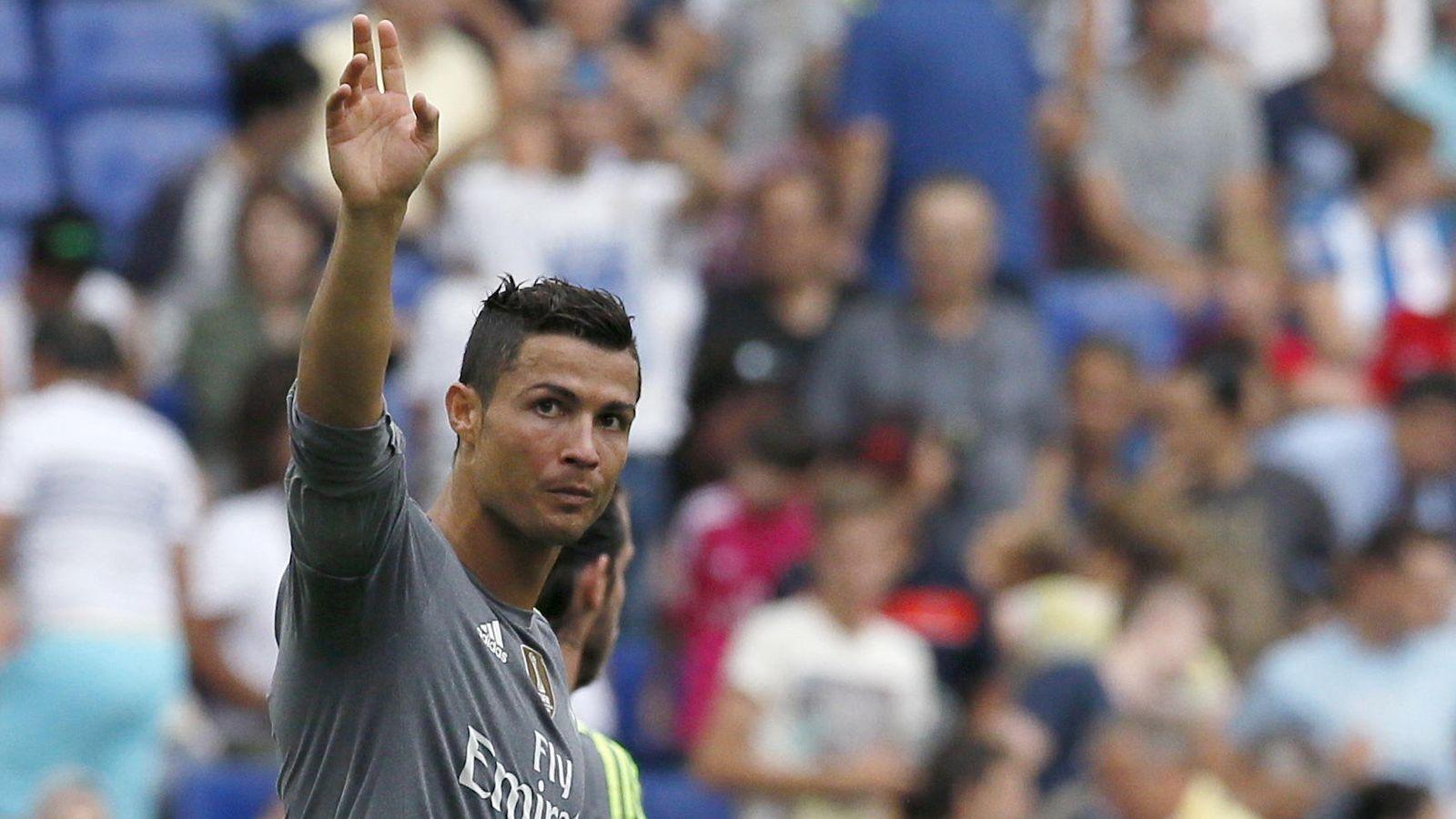 Foto: Cristiano Ronaldo celebra uno de sus tantos de la tarde del sábado.