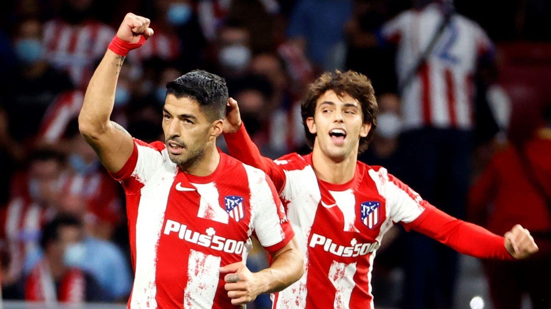 Luis Suárez celebra el 2-0. (EFE)