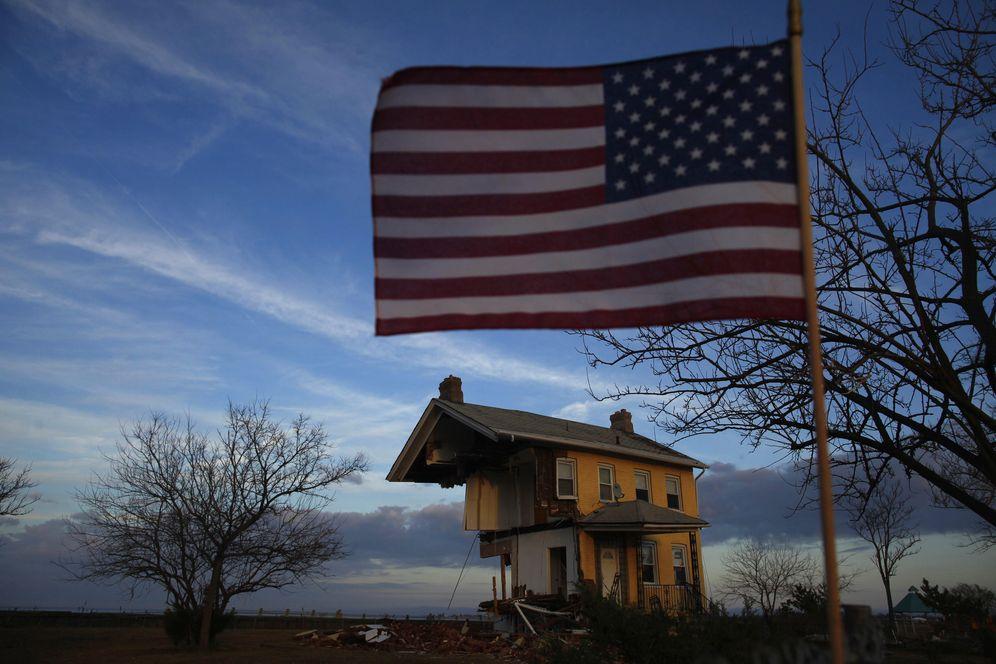 Foto: Una casa dañada por el huracán Sandy en Union Beach, New Jersey, el 12 de noviembre de 2012 (Reuters).