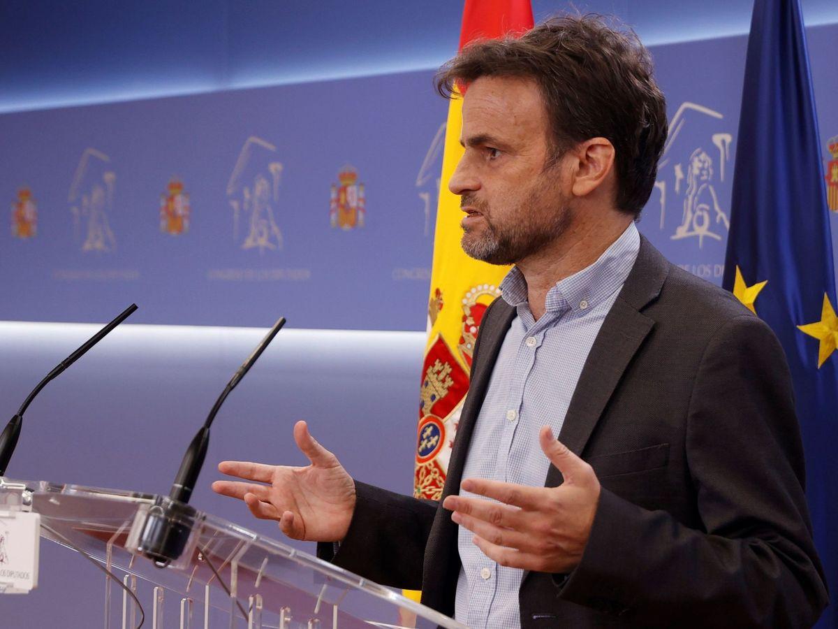 Foto: El presidente del grupo parlamentario de Unidas Podemos en el Congreso, Jaume Asens. (EFE)