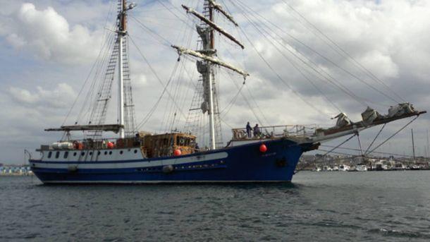 Foto: El buque escuela adaptado Gure Izar, armado por la Fundación Aulamar que presidía Pedro Morenés.
