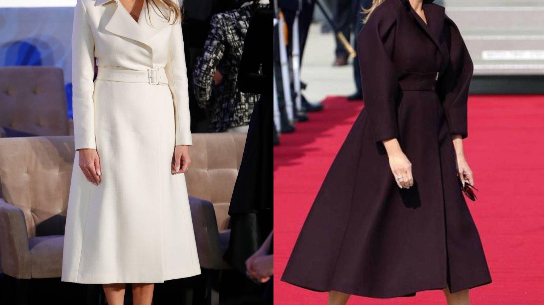 Melania Trump luce un abrigo de The Row y un abrigo burdeos de Delpozo.(Gtresonline)