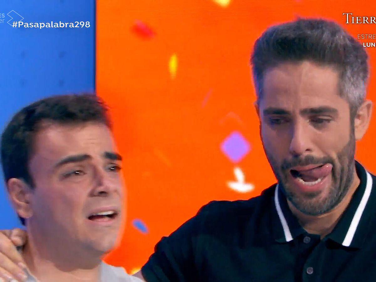 Foto: Pablo Díaz y Roberto Leal, en 'Pasapalabra'. (Antena 3)