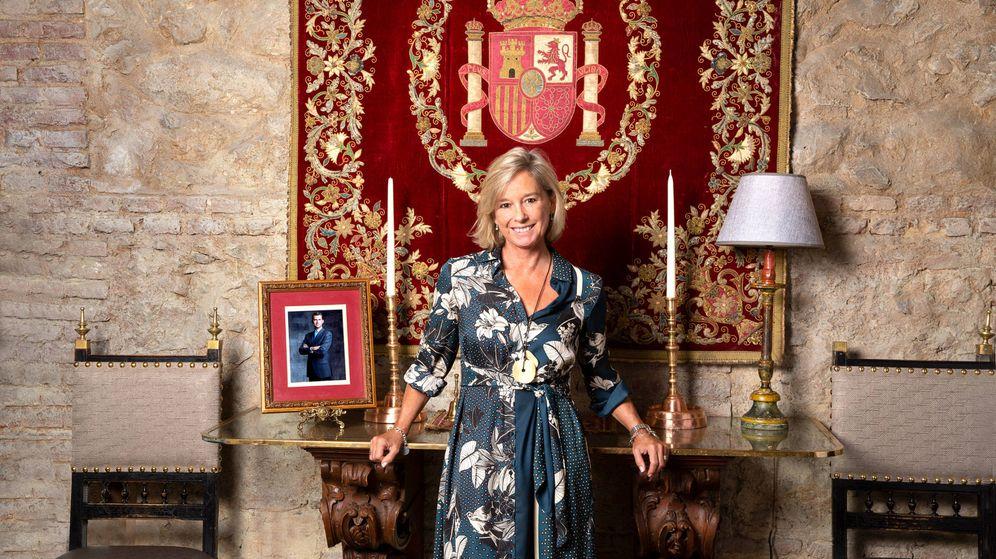 Foto: Carmen Remírez de Ganuza en el Salón del Rey del Café de Oriente. (Olga Moreno)