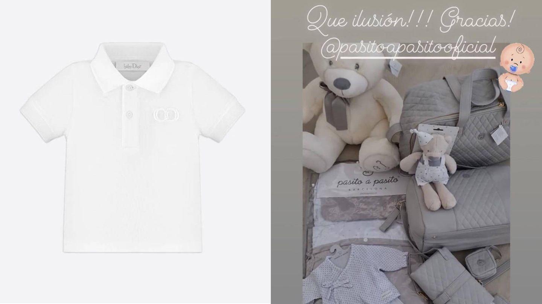 Algunos de los regalos que Paula Echevarría ha recibido para su bebé. (Cortesía Dior / Instagram @pau_eche)