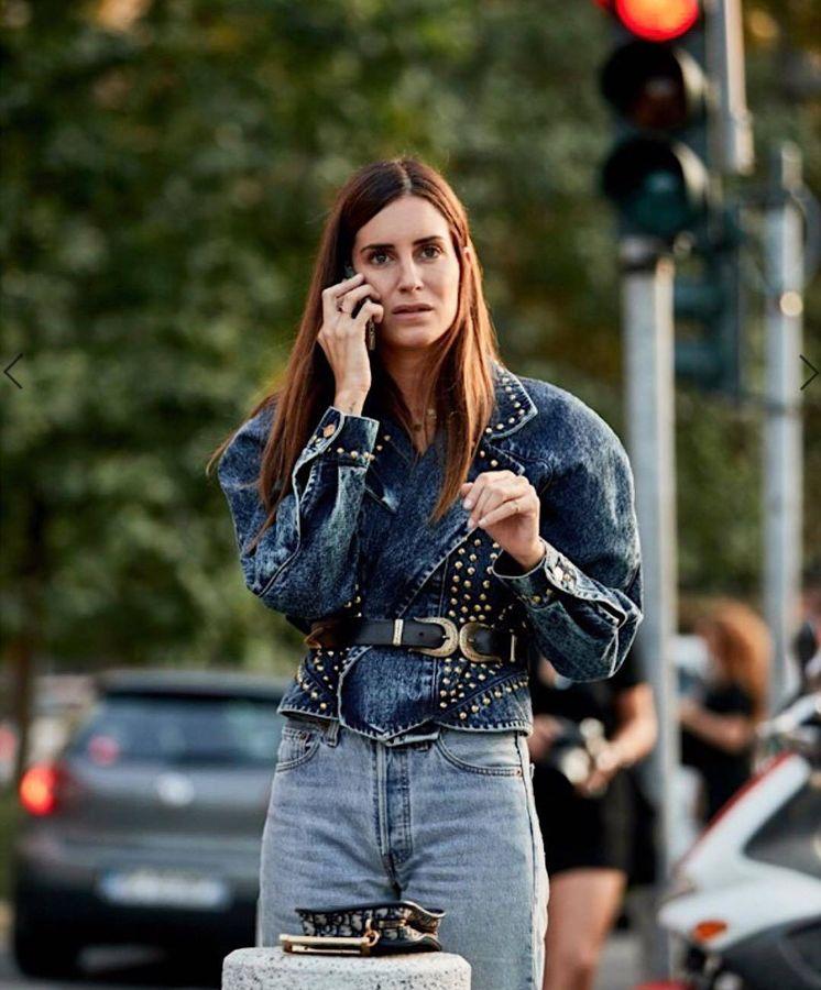Foto: La 'influencer' Gala González, con un total look en tejido vaquero. (Instagram)