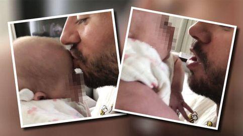 Enrique Iglesias se come a besos a uno de sus mellizos en un vídeo que ya es viral