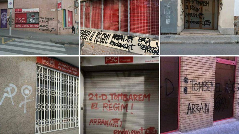 Sigue el cerco 'indepe' al PSC: vuelven a pintar y reventar otra sede en Cataluña