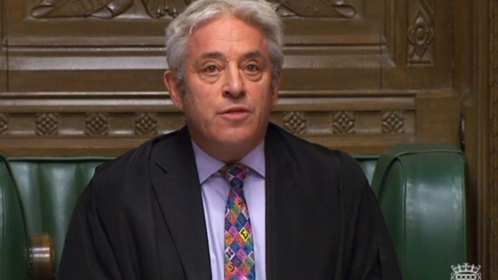 El presidente del Parlamento impide que se vote hoy el acuerdo del Brexit