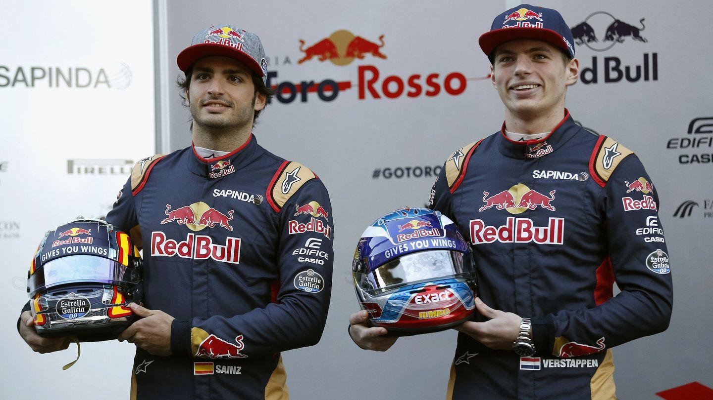 Sainz y Verstappen vivieron un duelo trepidante en 2016, hasta que Marko  pasó a Verstappen a Red Bull