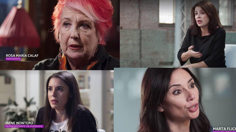 Algunas de las mujeres entrevistadas en '¿Qué coño está pasando?'. (Capturas de Netflix)