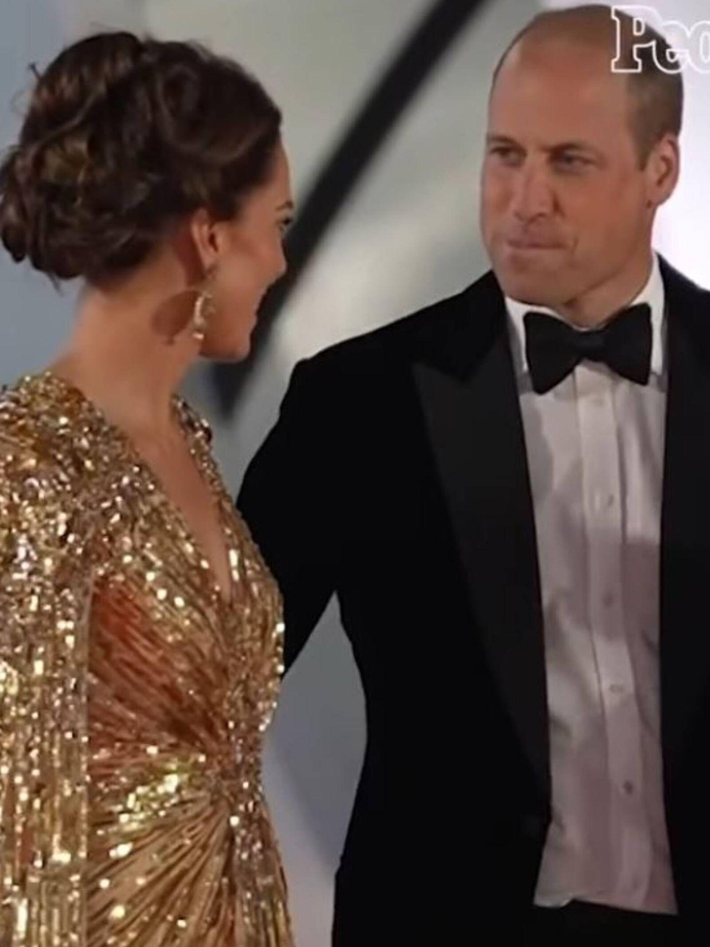 Detalle del vídeo de Kate Middleton y el príncipe Guillermo. (Instagram @people)
