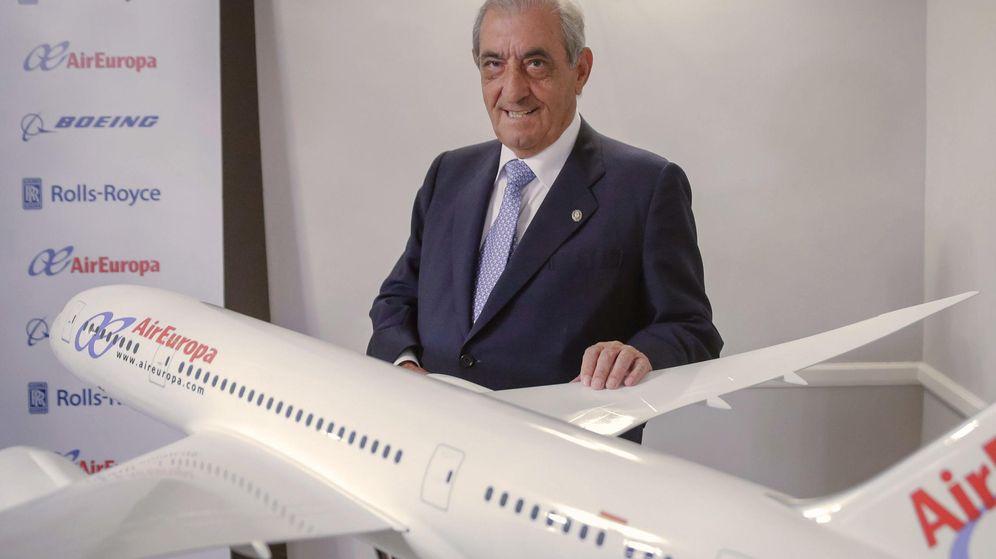 Foto: El presidente del grupo Globalia, al que pertenece Air Europa, Juan José Hidalgo, en una imagen de enero de 2015. (EFE)