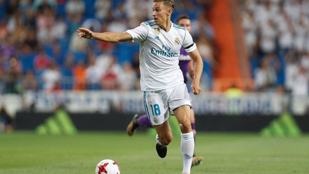 Foto: Marcos Llorente, durante un partido con el Real Madrid. (Cordon Press)