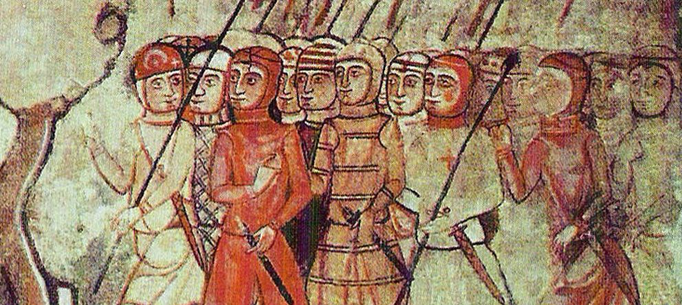Foto: Almogávares en Mallorca, siglo XIII.