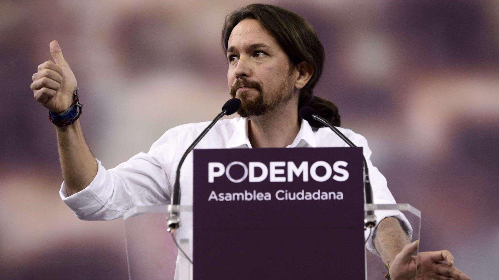 Foto: Pablo Iglesias en un mitin de Podemos (AFP)