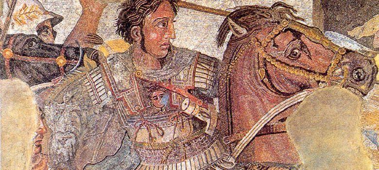Foto: Alejandro Magno representado en un mosaico de Pompeya.