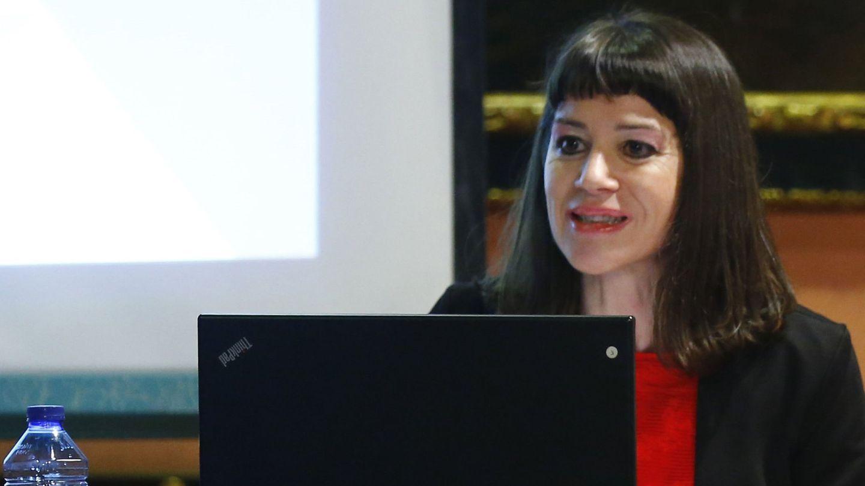 Gloria Poyatos, durante la presentación de la Asociación de Mujeres Juezas de España en 2016. (EFE)