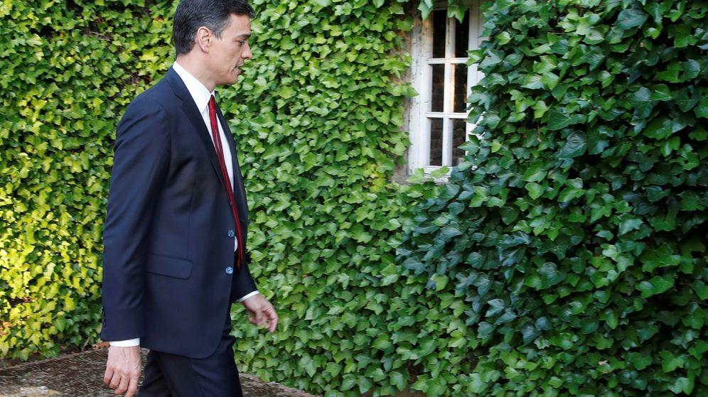 Foto: Pedro Sánchez, en su entrevista con TVE, la primera que ofreció desde que accedió al cargo (EFE)