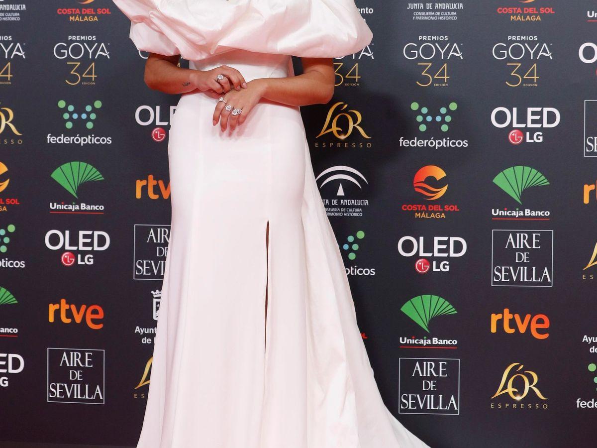 Foto: Aida Domenech, en la gala de los Goya 2020. (EFE)