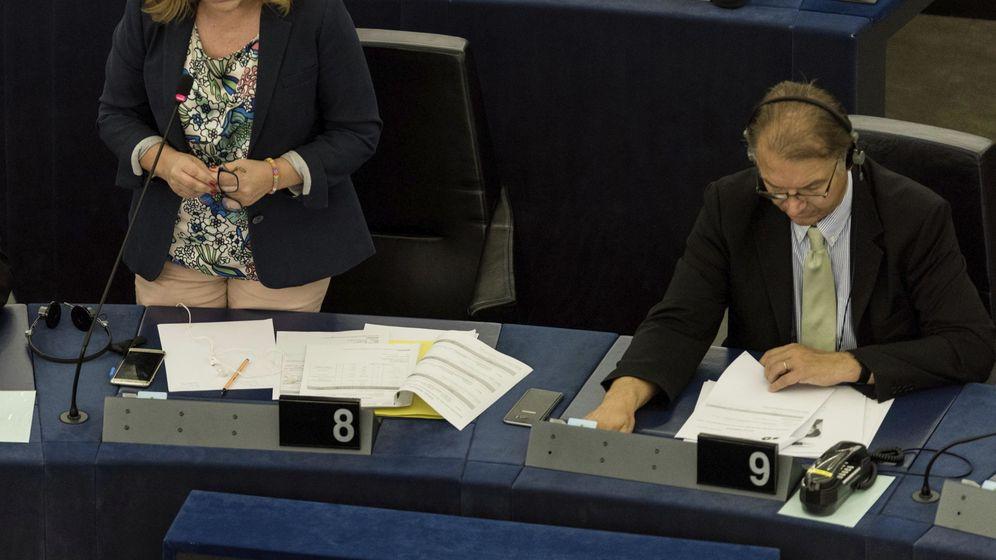 Foto: Elena Valenciano, el pasado 5 de julio en Estrasburgo, en un pleno de la Eurocámara. (EFE)