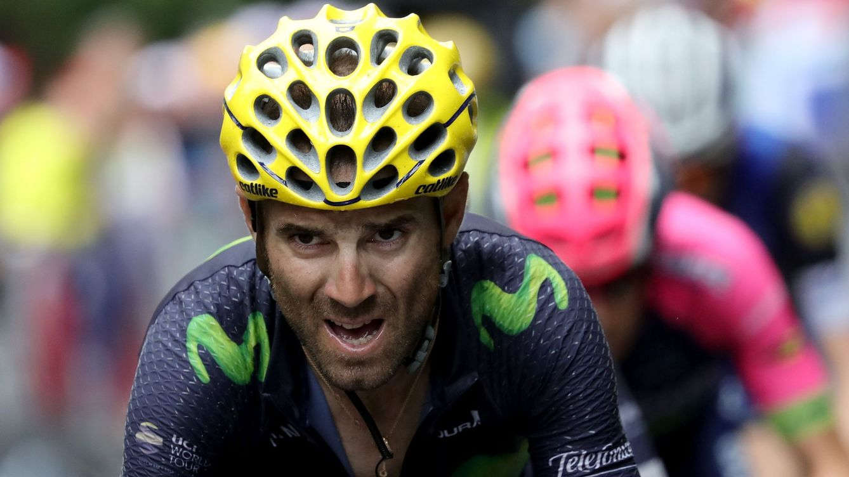 Foto: Valverde es la cara visible del equipo español de ciclismo (Kenzo Tribouillard/EFE).