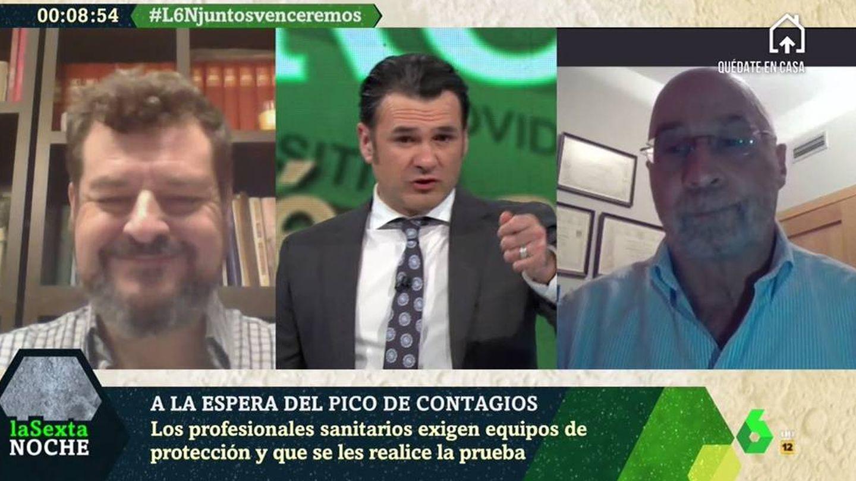 Óscar Rodríguez, Iñaki López y Julián Ezquerra, en 'La Sexta noche'. (Atresmedia).