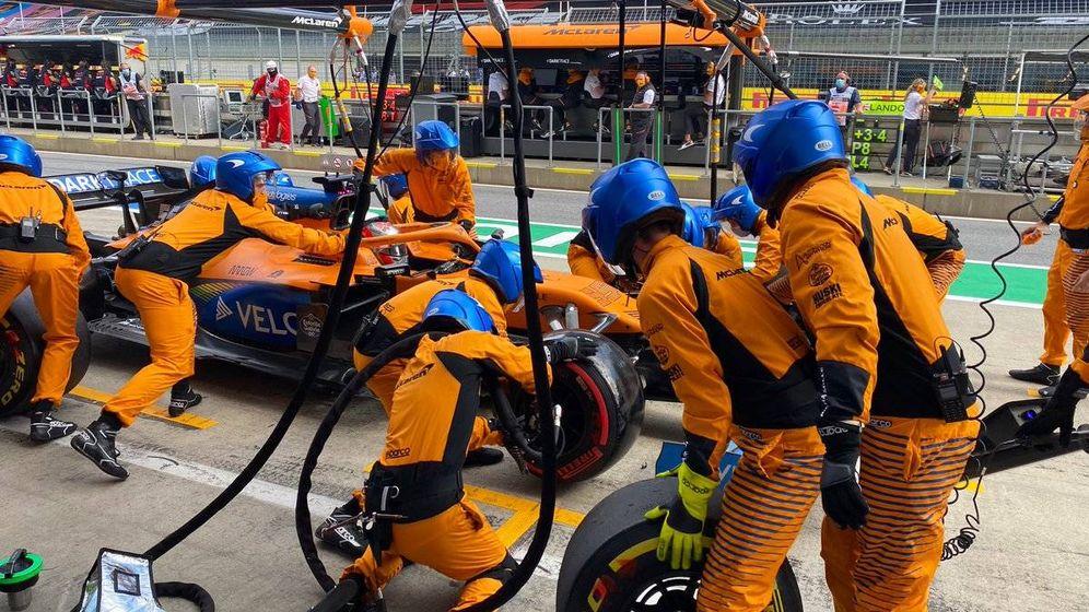 Foto: La parada en boxes de Sainz arruinó su carrera, cuando aspiraba al quinto puesto (McLaren)