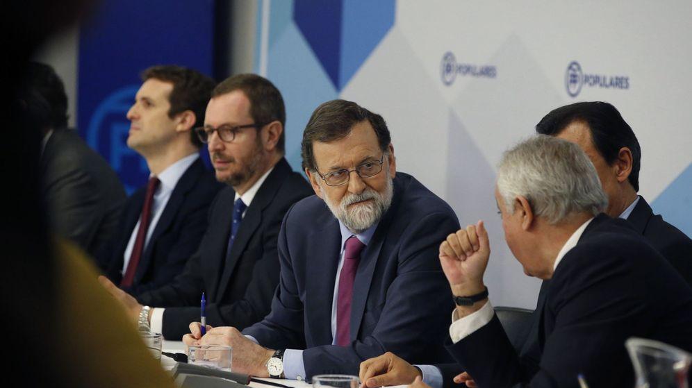 Foto: El presidente del Gobierno, Mariano Rajoy, durante la reunión de la junta directiva nacional del PP. (EFE)