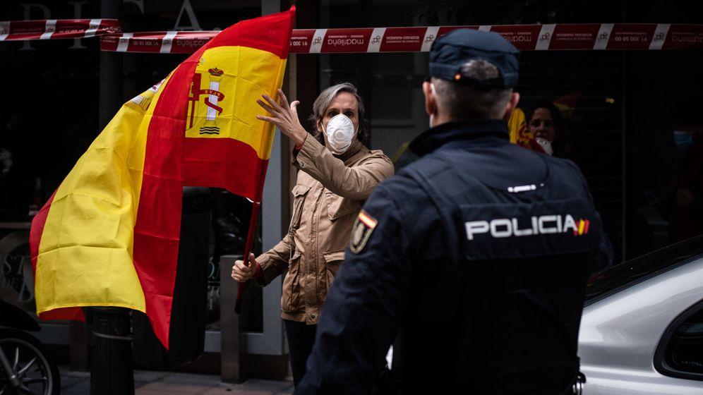 Foto: Fuerte despliegue policial ante las protestas en el distrito de Salamanca