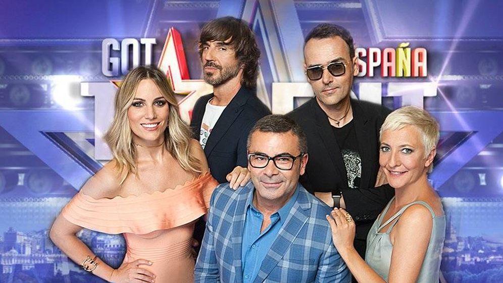 Foto: Santi Millán, con el jurado de 'Got Talent España'. (Mediaset)