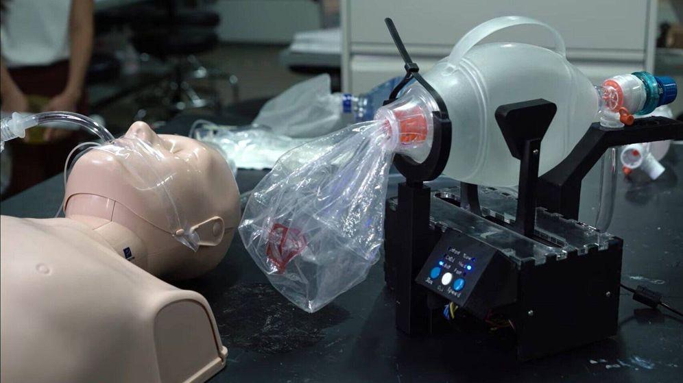 Foto: Uno de los modelos de respirador barato que se barajan (Rice University)