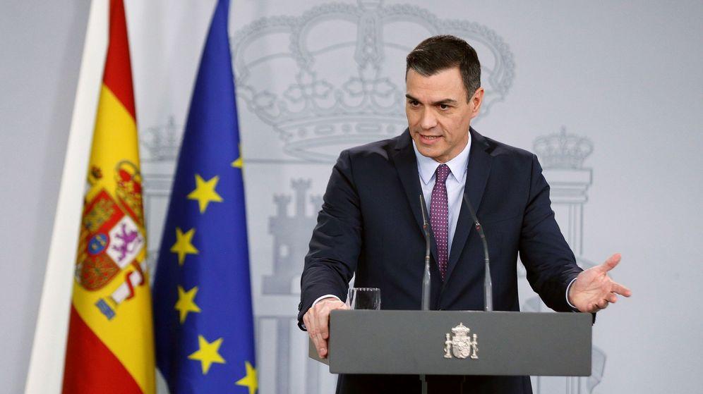 Foto: El presidente del Gobierno, Pedro Sánchez, en rueda de prensa tras el Consejo de Ministros. (EFE)