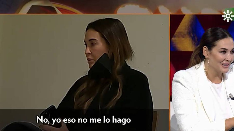 Vicky Martín Berrocal, durante la broma. (Canal Sur)