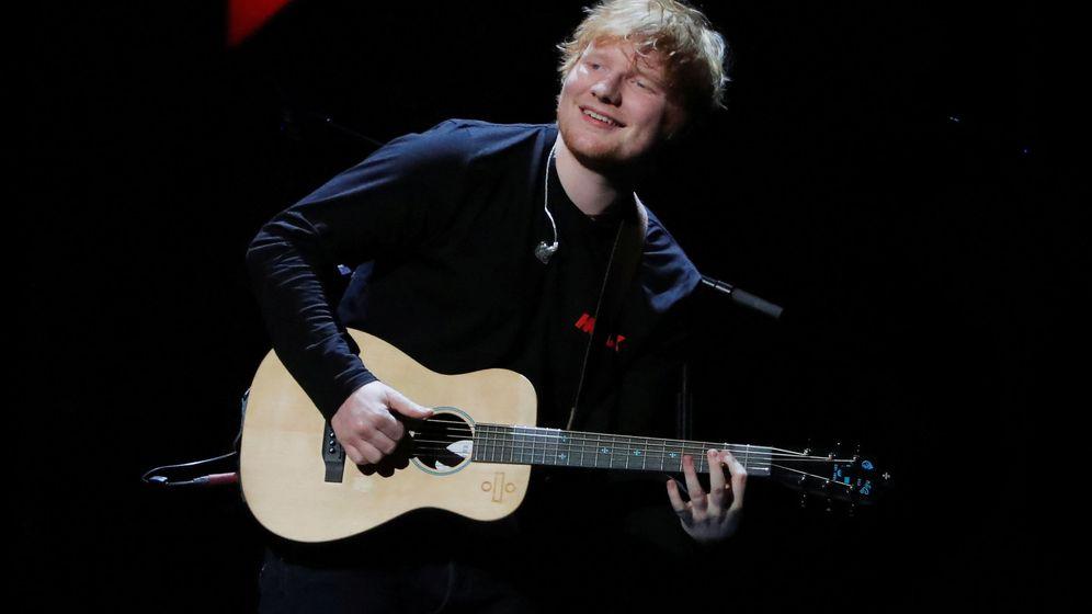 Foto: Ed Sheeran durante un concierto en Nueva York en 2017. (Reuters)
