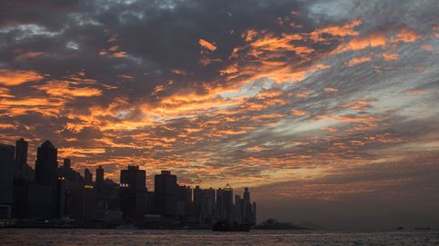 Puesta de sol en Hong Kong