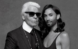 Conchita enamora a Karl Lagerfeld