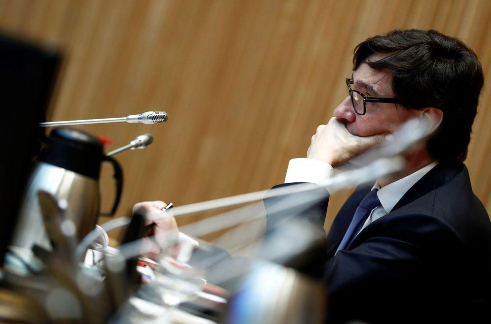 Foto: El ministro de Sanidad, Salvador Illa, este 18 de junio en la Comisión de Reconstrucción del Congreso. (EFE)