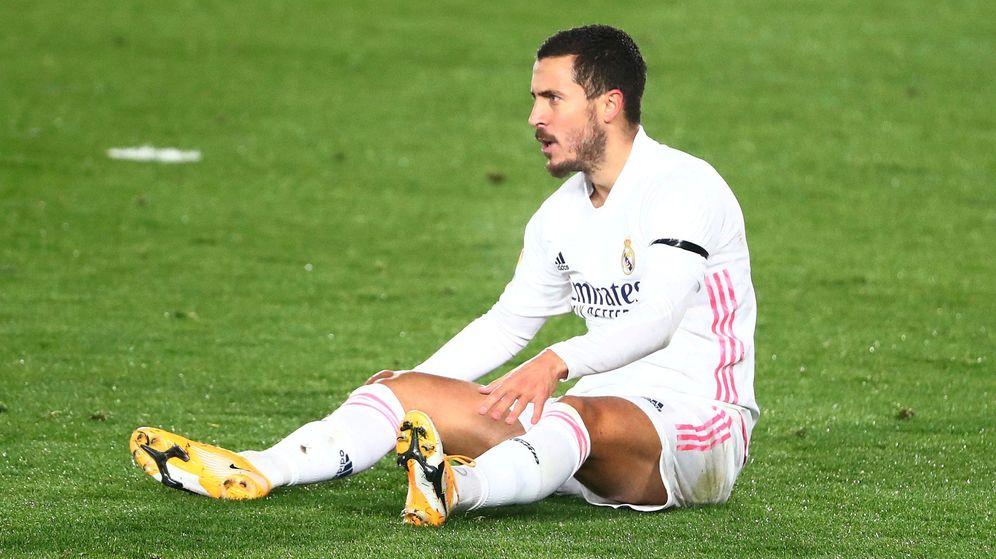 Foto: Hazard, durante el partido del pasado sábado contra el Alavés en Valdebebas. (Reuters)