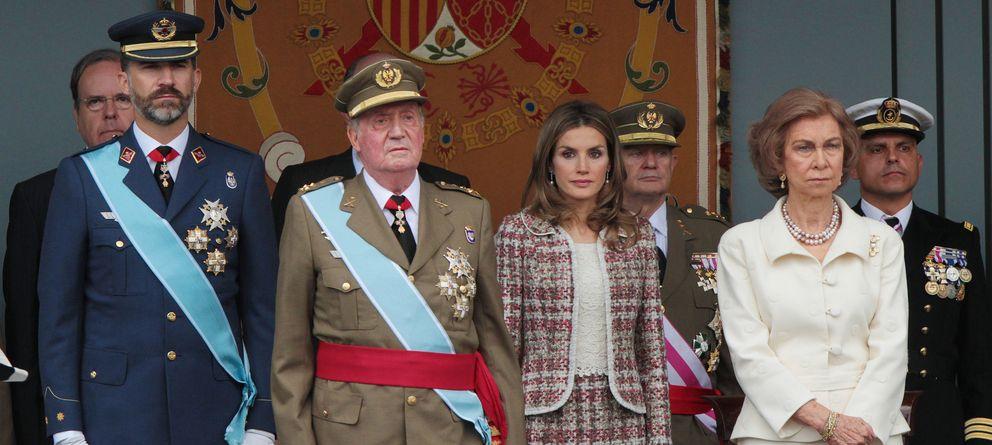 Foto: La evolución de la Familia Real el Día de la Fiesta Nacional