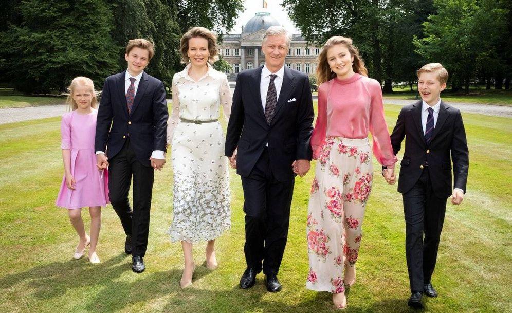 Foto:  La familia real belga en Laeken. (Casa Real)