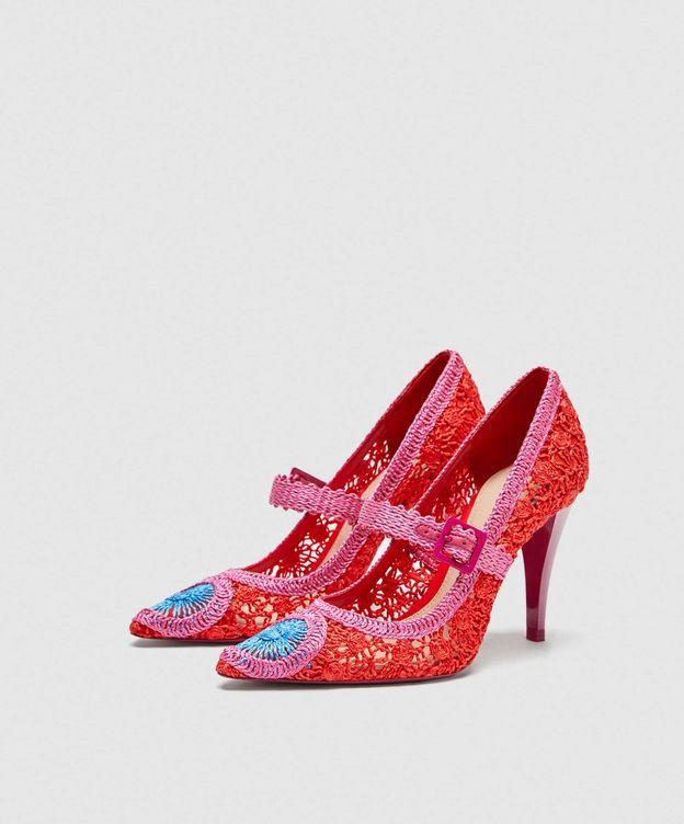 Foto: Zapatos de croché de Zara.
