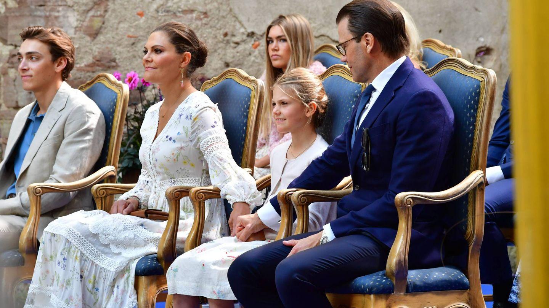 Victoria, Daniel y Estelle en el concierto solidario con motivo del cumpleaños de la princesa. (Cordon Press)
