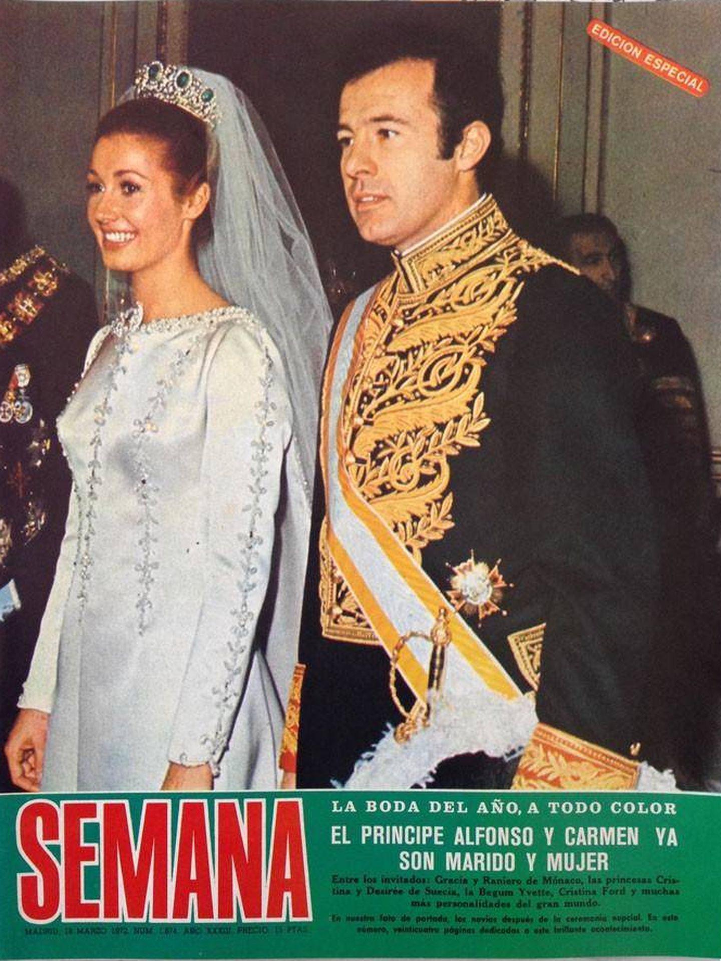 Boda de Carmen Martínez-Bordiú y el duque de Cádiz. (Semana)