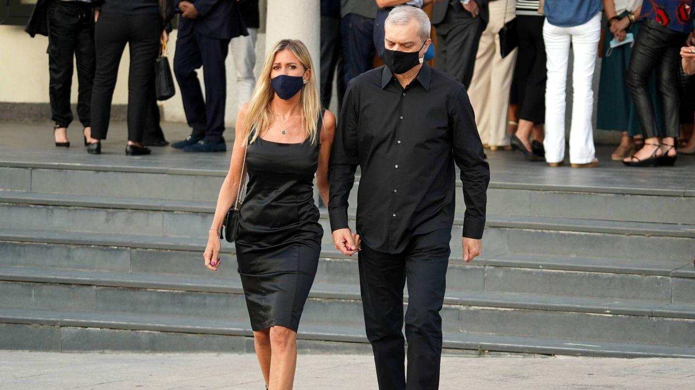 Ramón García y Patricia Cerezo, a la salida del funeral por Aless Lequio. (Cordon Press)